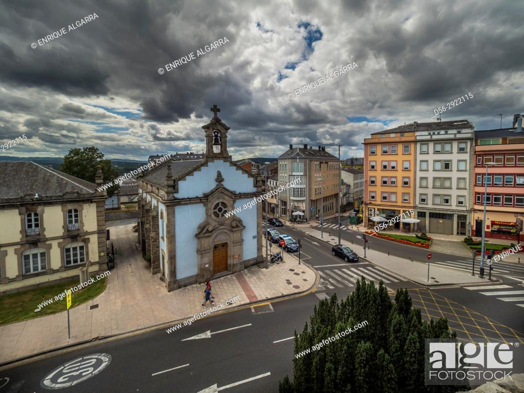 Stock Photo: Lugo from the roman walls, Galicia, Spain.