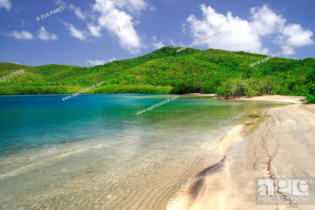 Stock Photo: The Treasure Bay in the Caravelle area in Martinica, a caribean island.