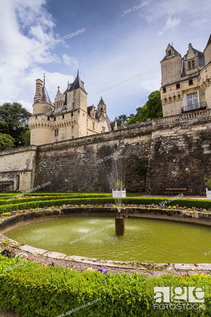 Stock Photo: The beautiful Château d'Ussé in the Loire Valley, Indre-et-Loire, France, Europe.