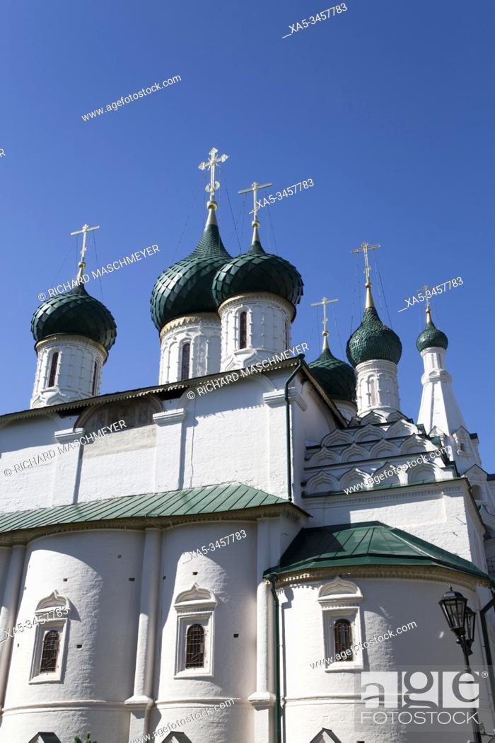 Stock Photo: Elijah the Prophet Church, UNESCO World Heritage Site, Yaroslavl, Golden Ring, Yaroslavl Oblast, Russia.