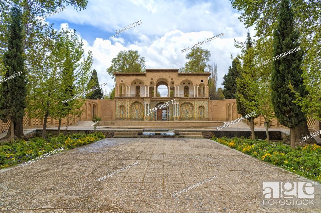 Stock Photo: Shazdeh Mahan Garden or Prince`s Garden, Mahan, Kerman Province, Iran.