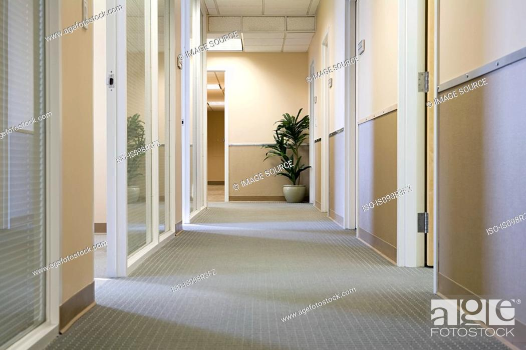 Stock Photo: Corridor in an office.
