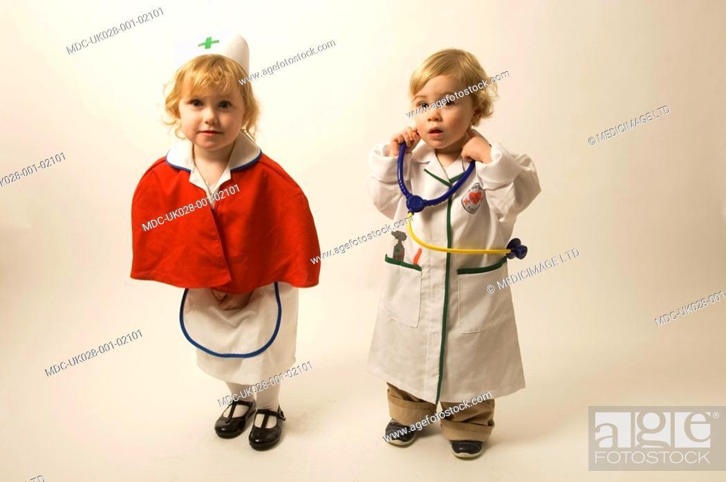 Young teen girl nurse something