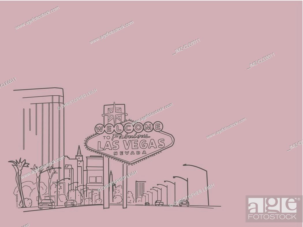 Stock Photo: An illustration of city of Las vegas.