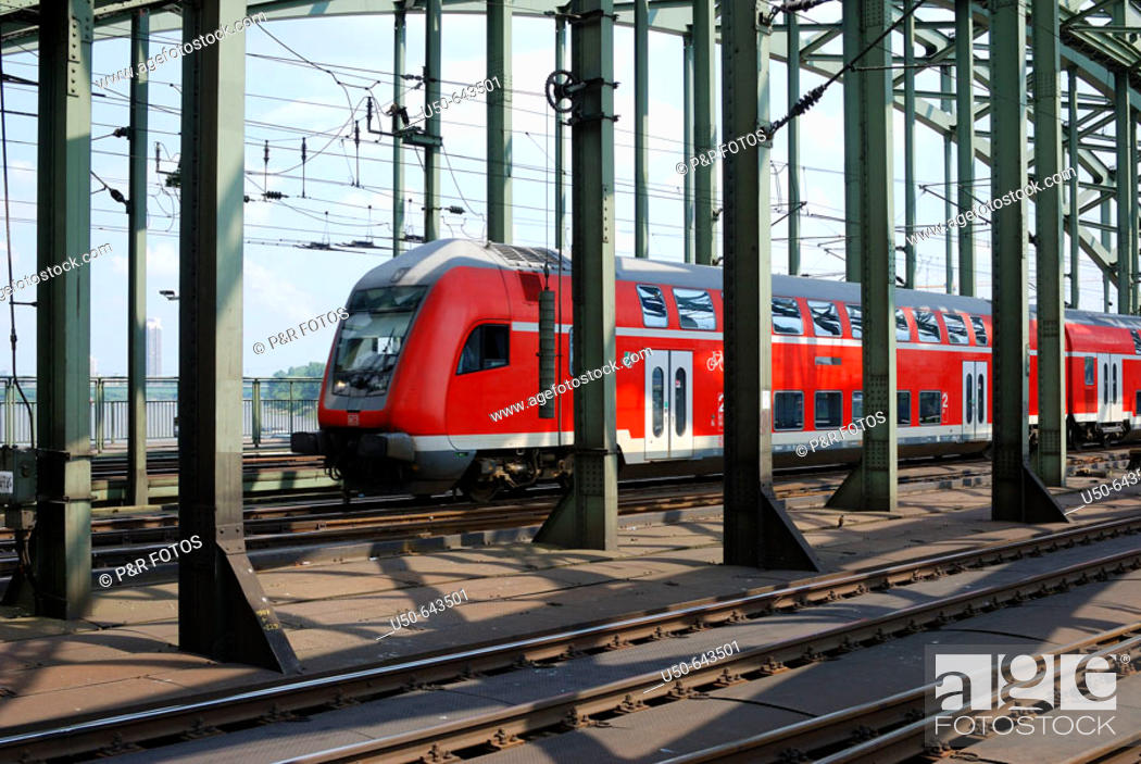 Stock Photo: Regional train, Cologne, Germany.