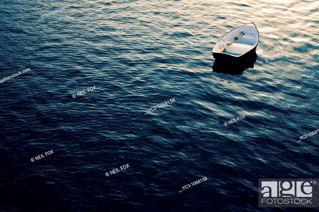 Stock Photo: Rowing boat.