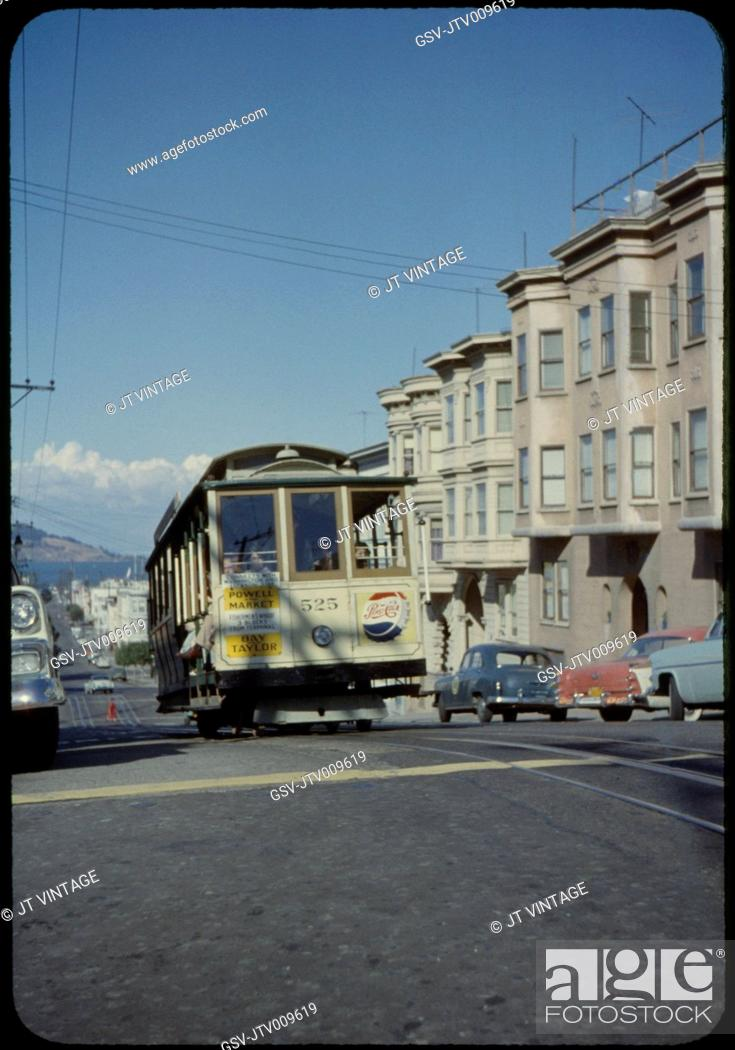 Imagen: Cable Car, San Francisco, California, USA, 1957.