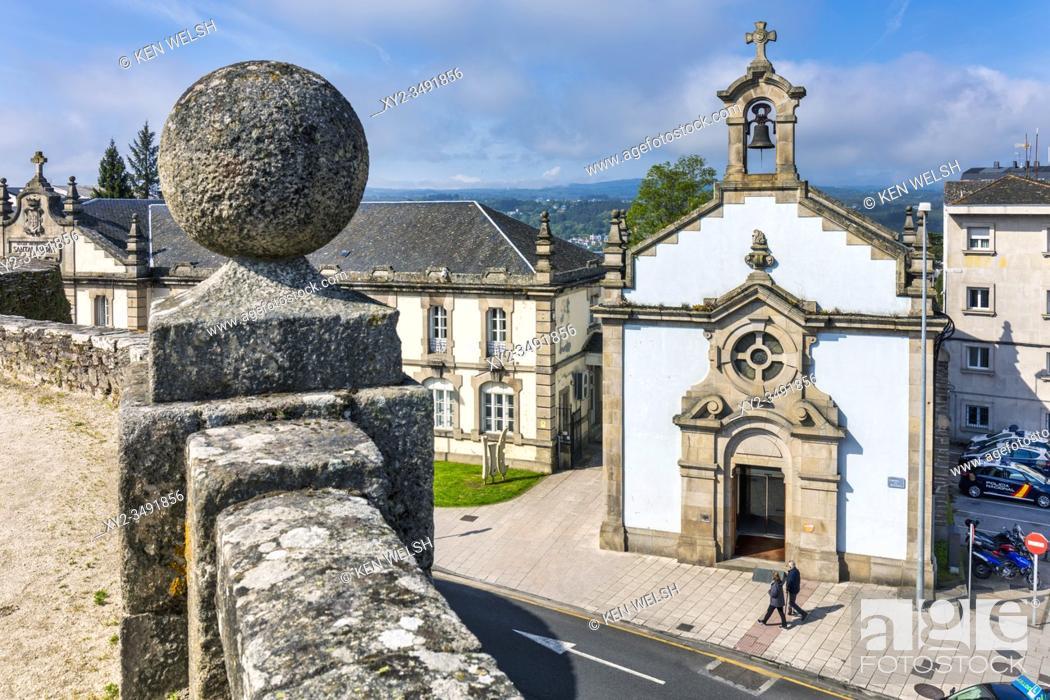Stock Photo: Capela de Santa Maria, Lugo, Lugo Province, Galicia, Spain.