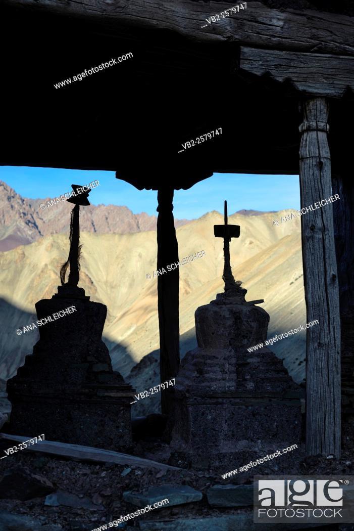 Stock Photo: Yurutse homestay. Trekking in Markha valley (Laddakh, India).
