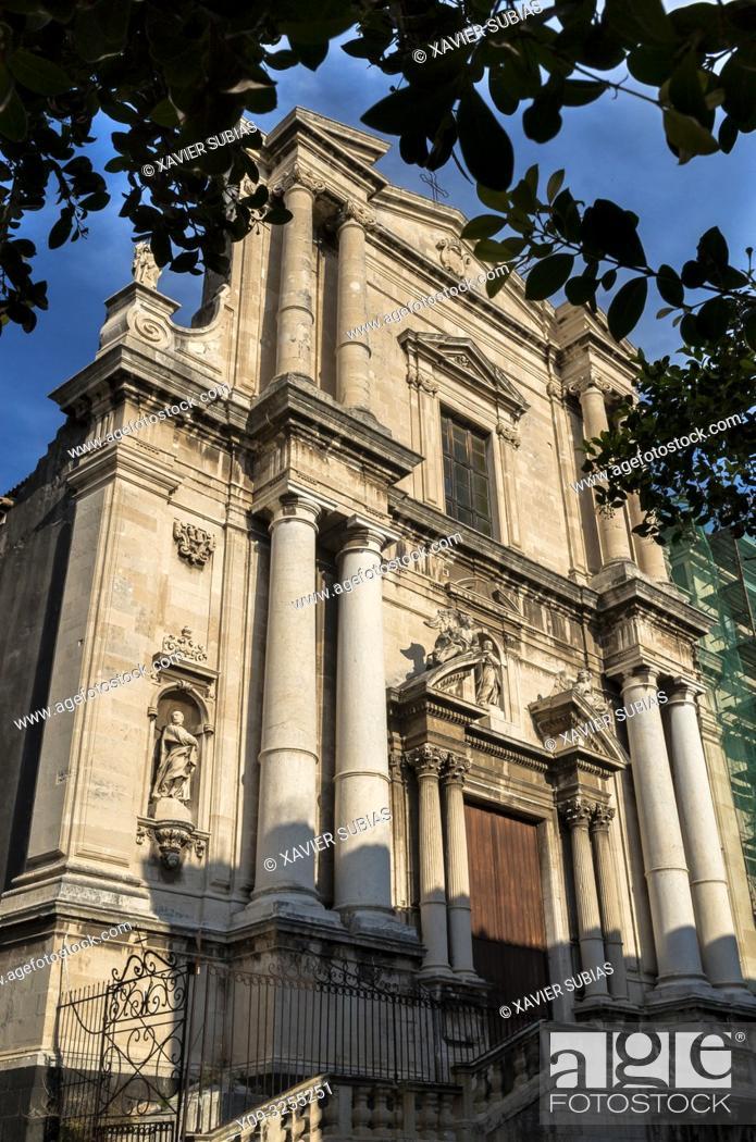 Stock Photo: Church of San Francesco Borgia, Catania, Sicily, Italy.