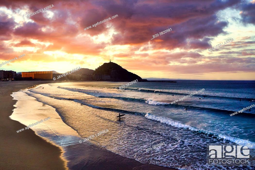 Stock Photo: La Zurriola beach, Kursaal center, Donostia, San Sebastian, Gipuzkoa, Basque Country, Spain,.