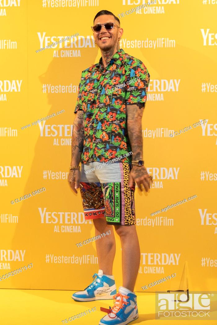 Imagen: Emis Killa during the photocall of film ' Yesterday ' in Milan, ITALY-20-06-2019.