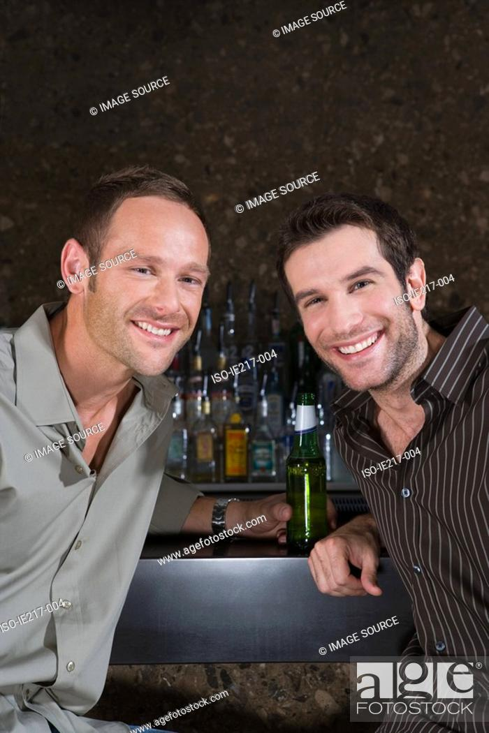 Stock Photo: Two men in a bar.