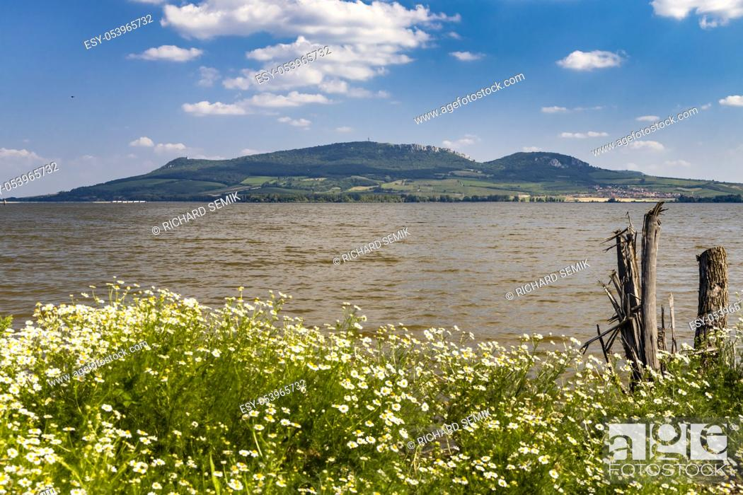 Stock Photo: Nove Mlyny reservoirs with Palava, South Moravia, Czech Republic.