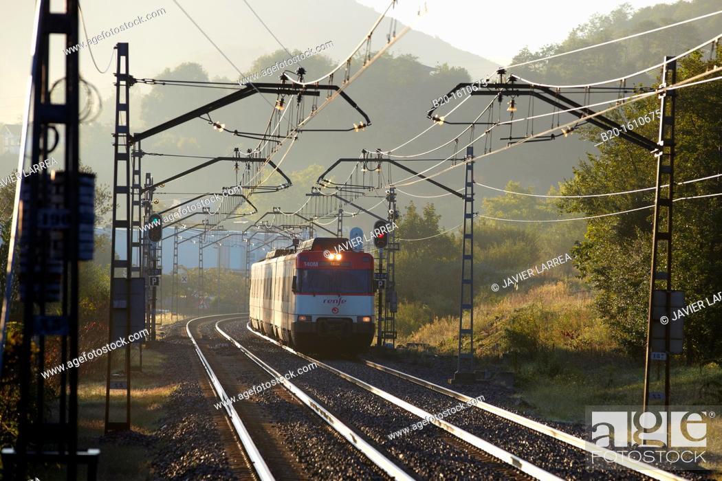 Stock Photo: Railways, Loyola Station, Donostia, San Sebastian, Gipuzkoa, Basque Country, Spain.