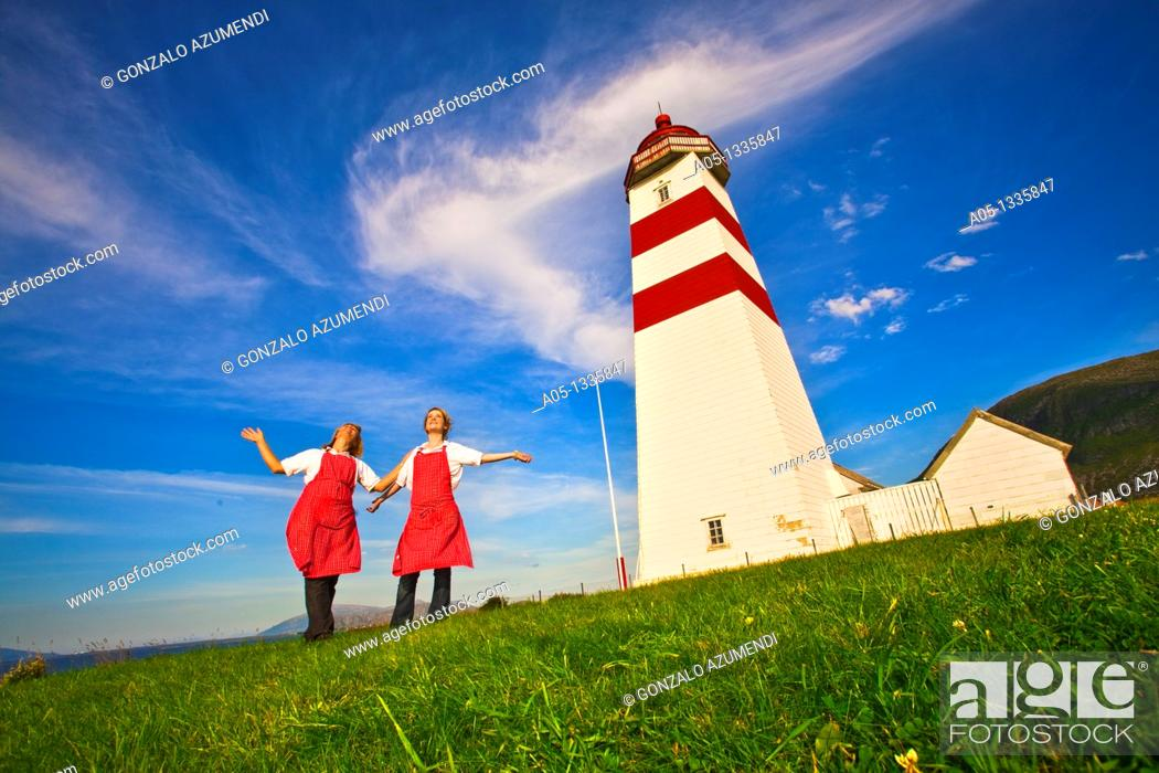 Stock Photo: Alnes Lighthouse, next to Alesund  More & Romsdal, Norway.