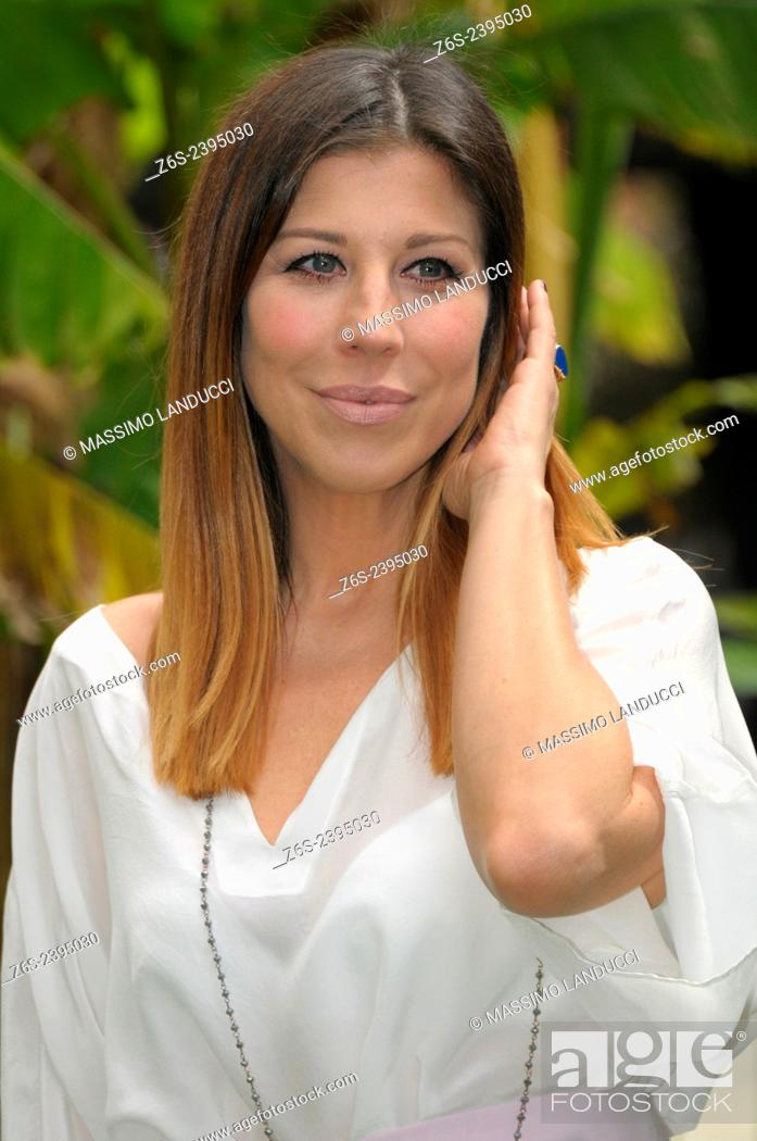 Stock Photo: Michela Andreozzi; Andreozzi; actress; celebrities; 2015;rome; italy;event; photocall; una casa nel cuore.