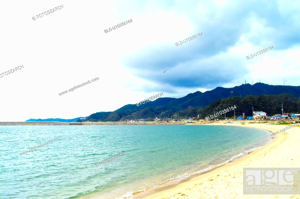Stock Photo: sea, sand, landscape, scenery, waves, natural.