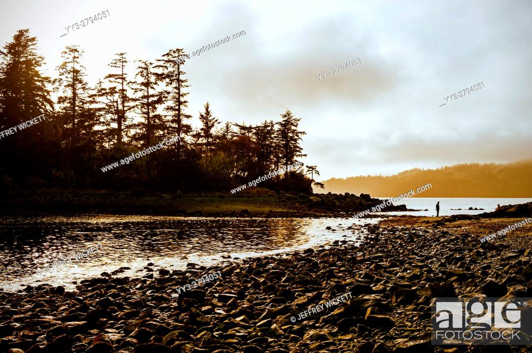 Stock Photo: Magic Island at Halibut Point Recreation Area near Sitka, Alaska, USA.