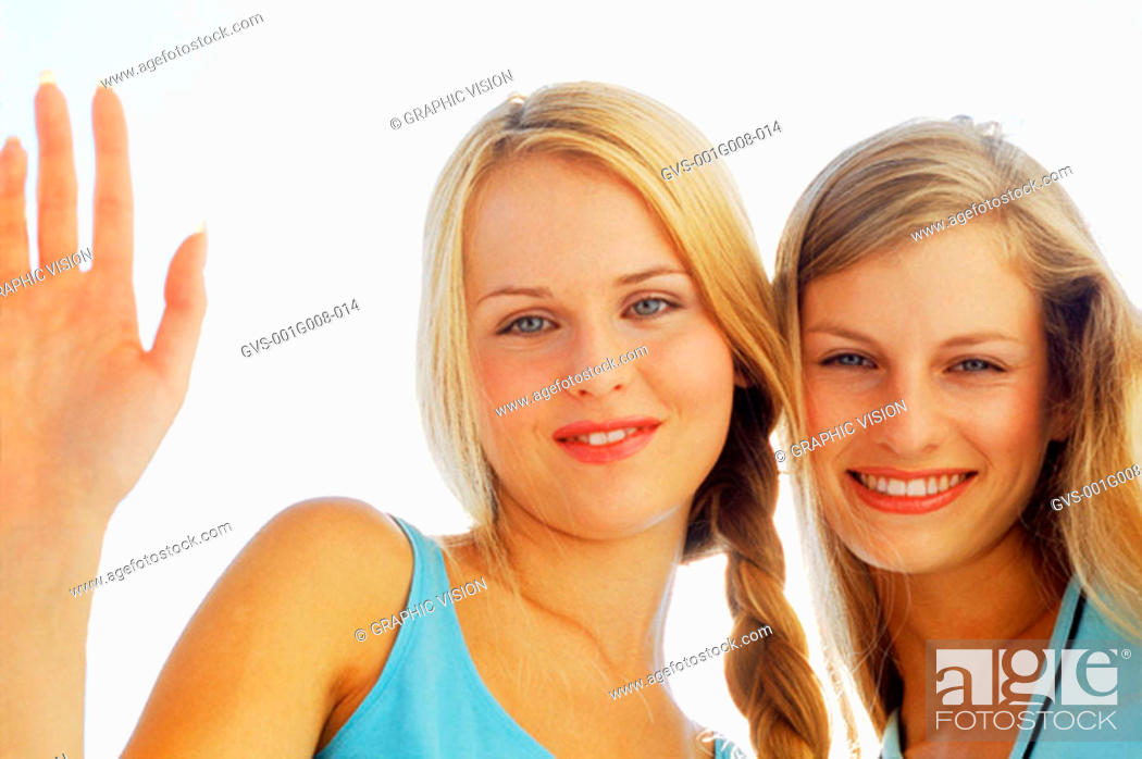 Stock Photo: Portrait of two young women.