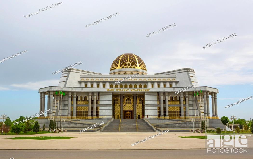 Imagen: Building, Library, Mary, Turkmenistan, Central Asia, Asia, architecture, city, culture, dome, touristic, travel.