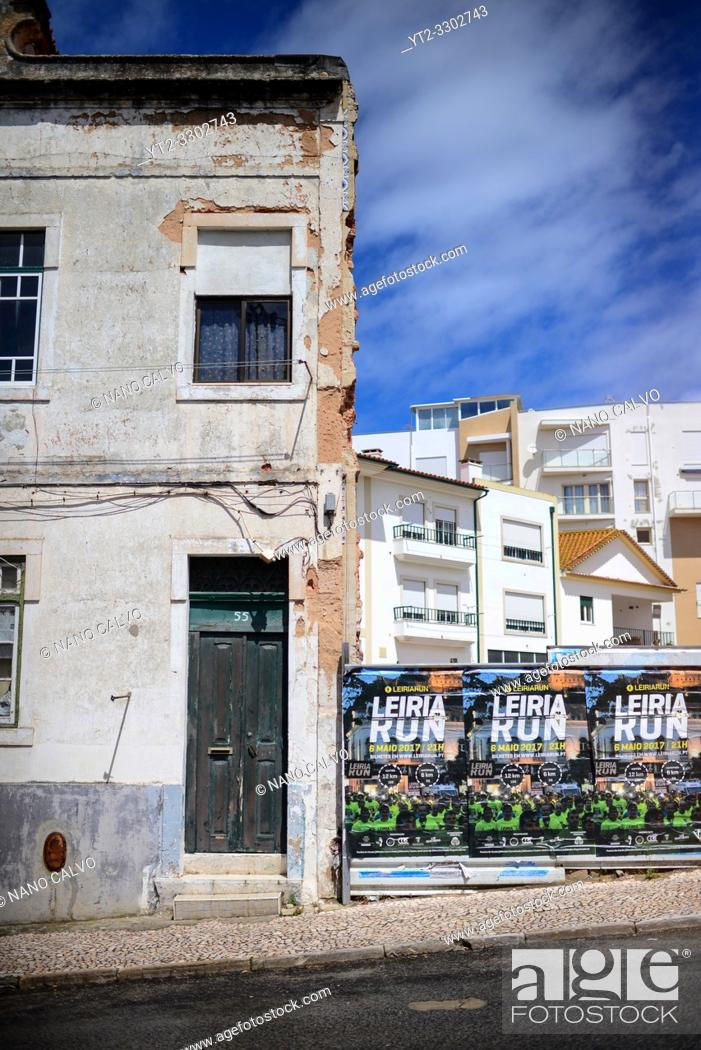 Stock Photo: Streets of Nazare, Portugal.