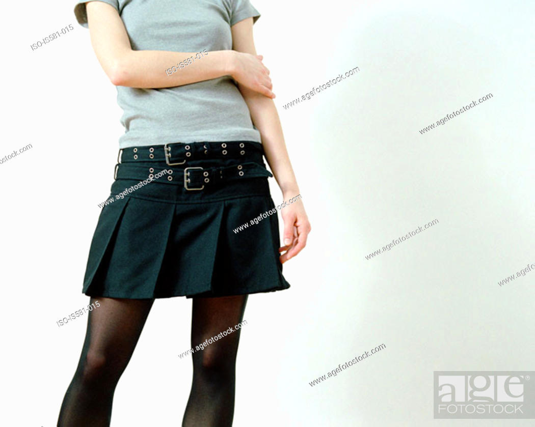 Stock Photo: Woman wearing a skirt.
