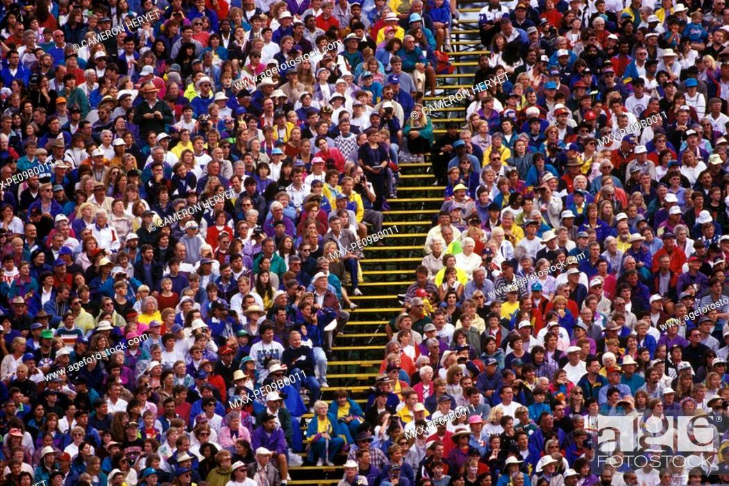 Stock Photo: Crowds at Commonwealth Games, 1994 Victoria, British Columbia, Canada.