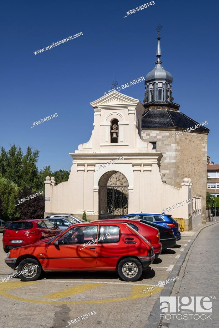 Stock Photo: Ermita de Jesús Nazareno -Capilla del Cristo, barroca, siglo XVIII, Almazán, Soria, comunidad autónoma de Castilla y León, Spain, Europe.