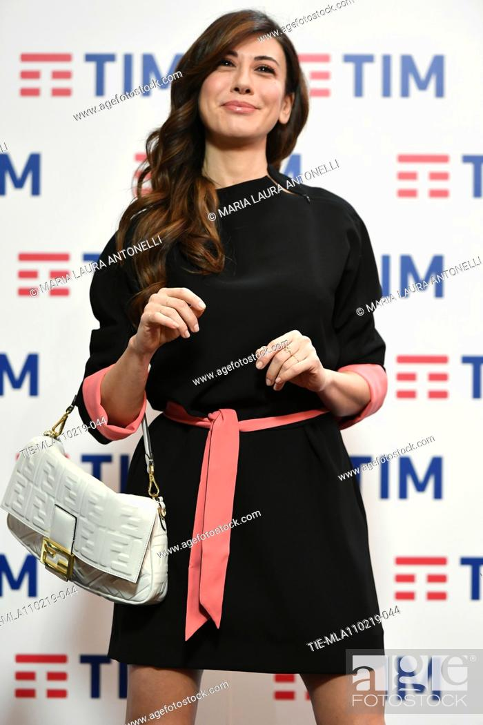 Imagen: Virginia Raffaele during the final press conference of 69th Sanremo Music Festival, Sanremo, ITALY- 10-02-2019.