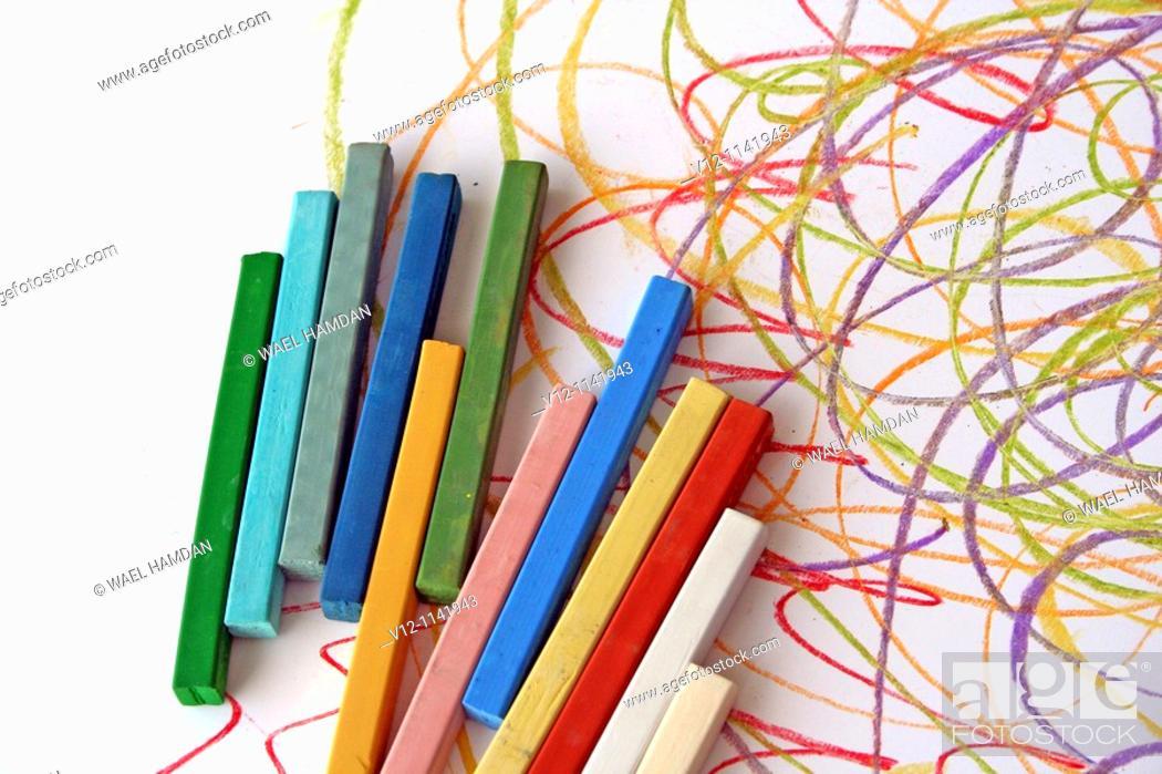 Stock Photo: pastel crayon.