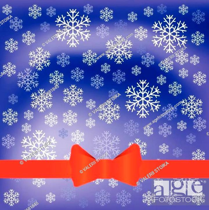 Stock Vector: blue background with snow flakes.