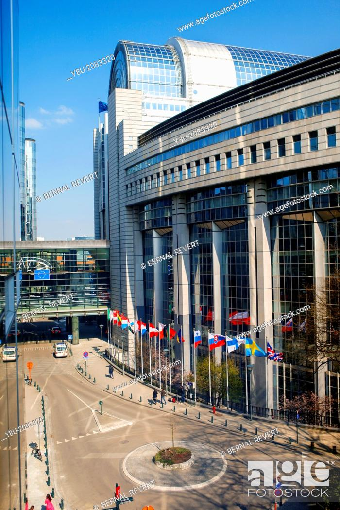 Stock Photo: European Parliament headquarters.