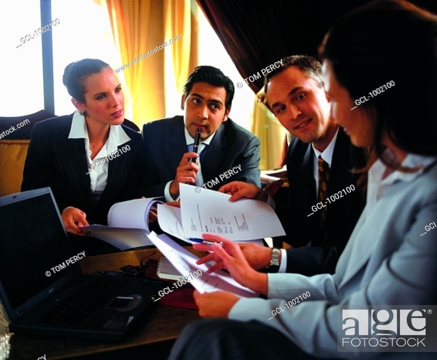 Stock Photo: Business meeting.