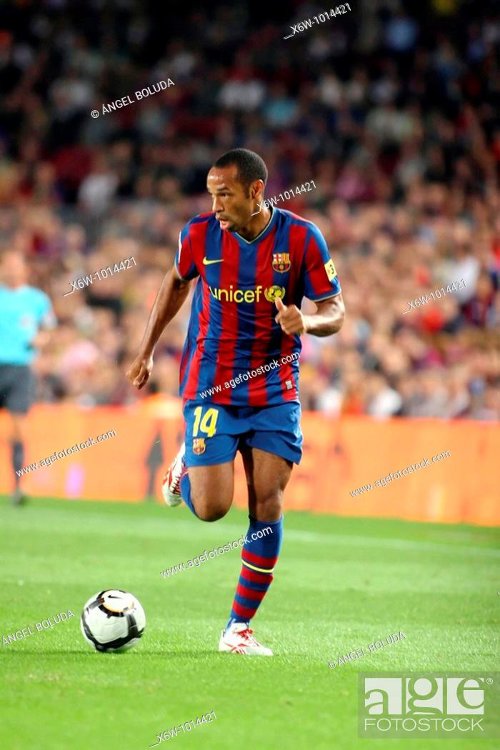 Stock Photo: Thierry Henry, French footballer, FC Barcelona, 2009.