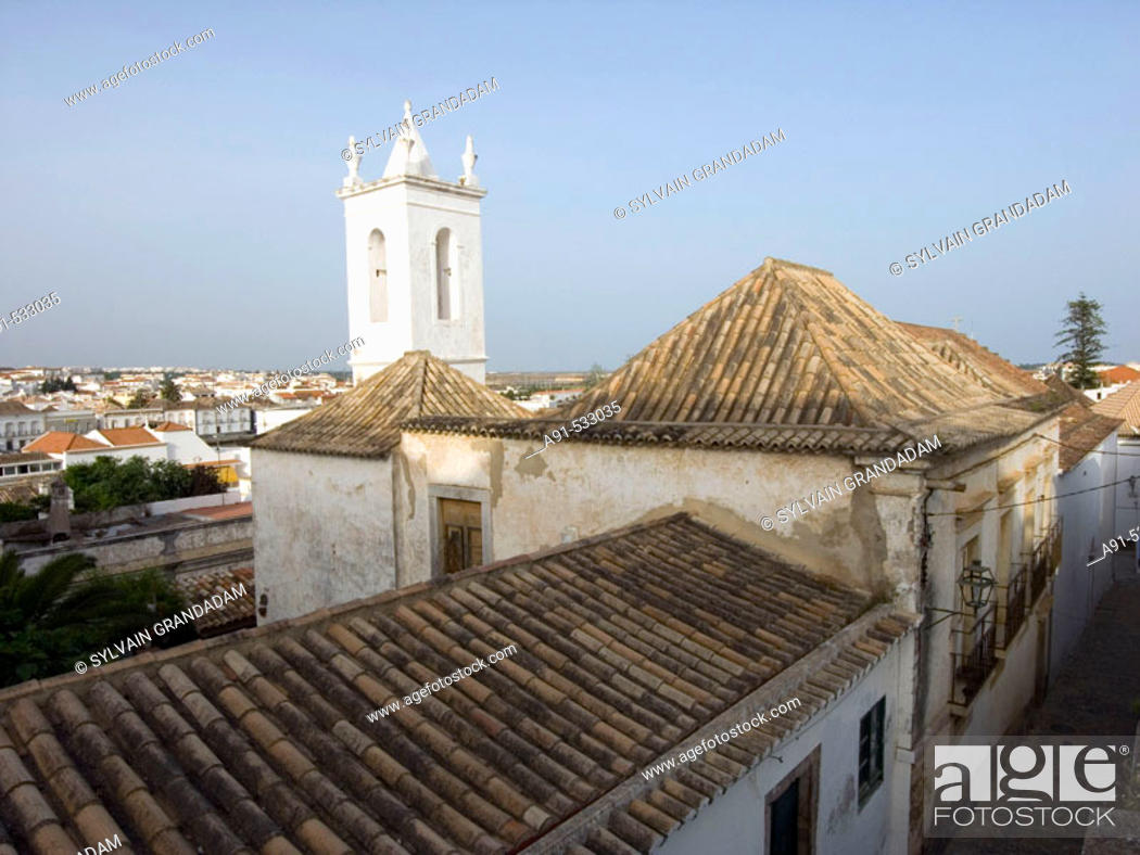 Stock Photo: Historic city of Tavira, probably the nicest in Algarve, has 37 churches. Portugal.
