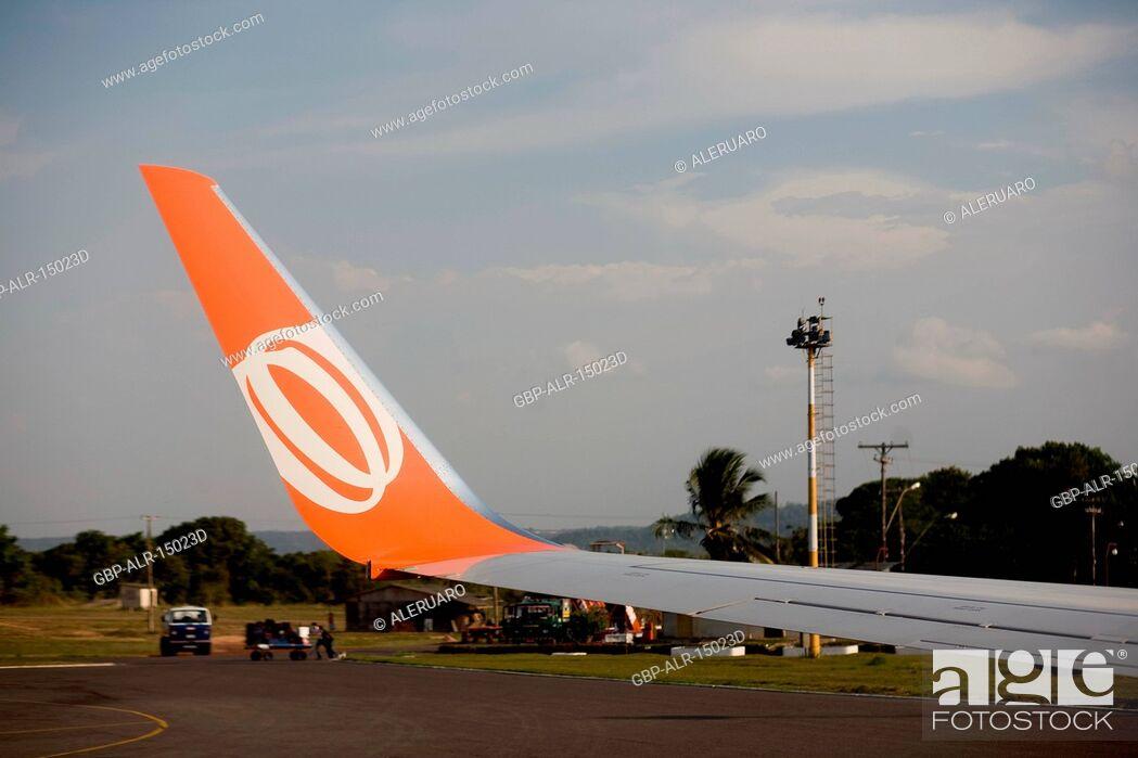 Stock Photo: Wing of Airplane, Santarém, Pará, Brazil.