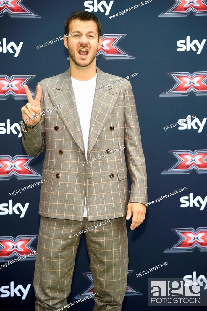 Stock Photo: Tv conducer Alessandro Cattelan during the photocall of X Factor 2019, Milan, ITALY-10-09-2019.
