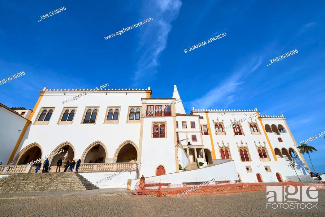Stock Photo: National Palace of Sintra, Lisbon, Portugal, Europe.