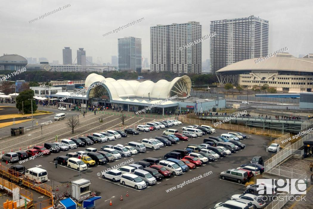 Stock Photo: Parking area, tokyo, japan.