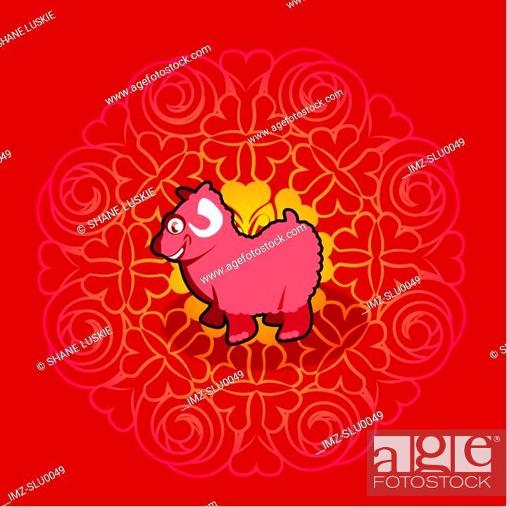 Stock Photo: Chinese new year symbol of ram.