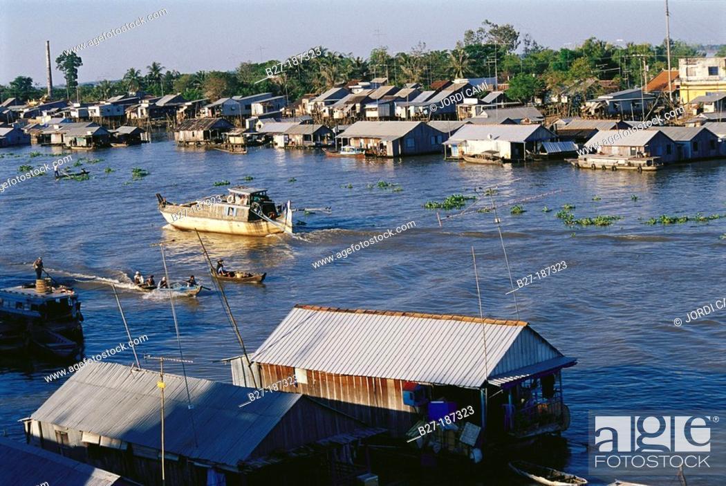 Stock Photo: Chau Doc, near the Cambodian border. Mekong Delta. Vietnam.