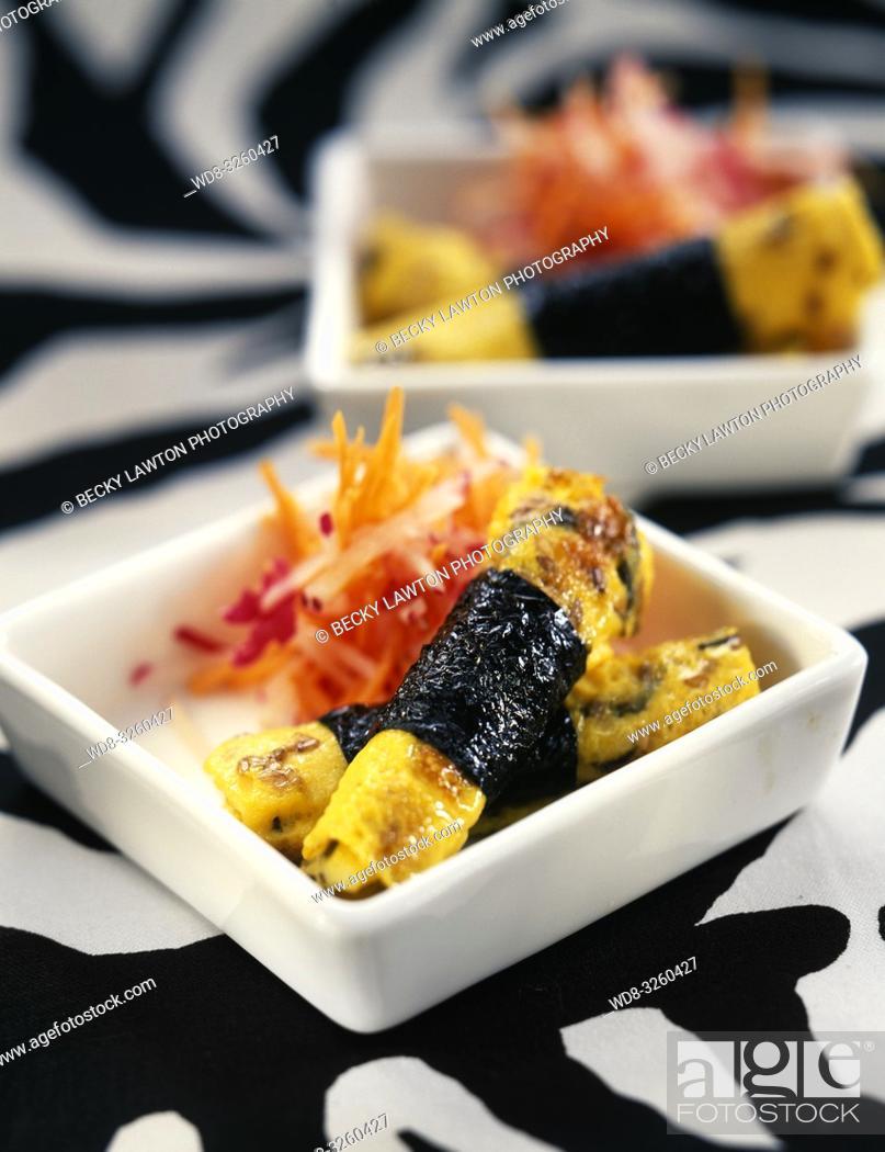 Stock Photo: Omelette aux algues nori.