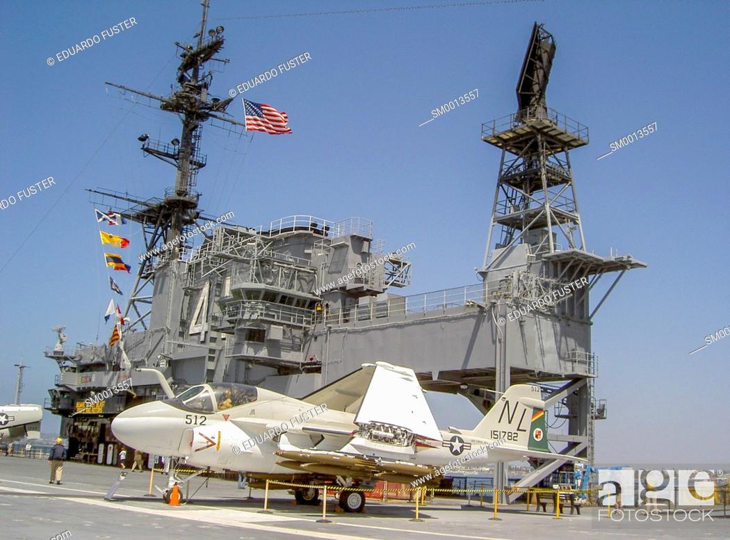 Stock Photo: USS Midway in San Diego(California, USA).