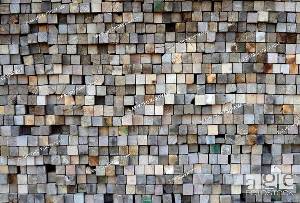 Stock Photo: detail of old wood planks surface.