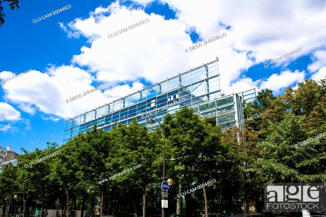 Stock Photo: Cartier Foundation, Montparnasse, Paris, France, Western Europe.