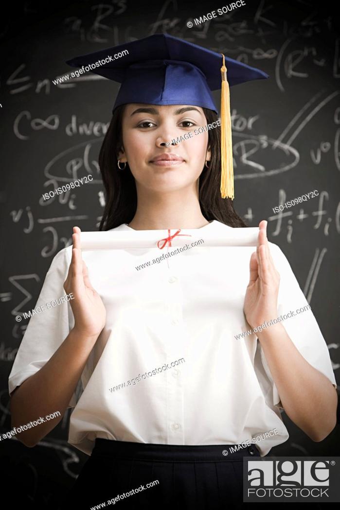 Stock Photo: Graduating girl.