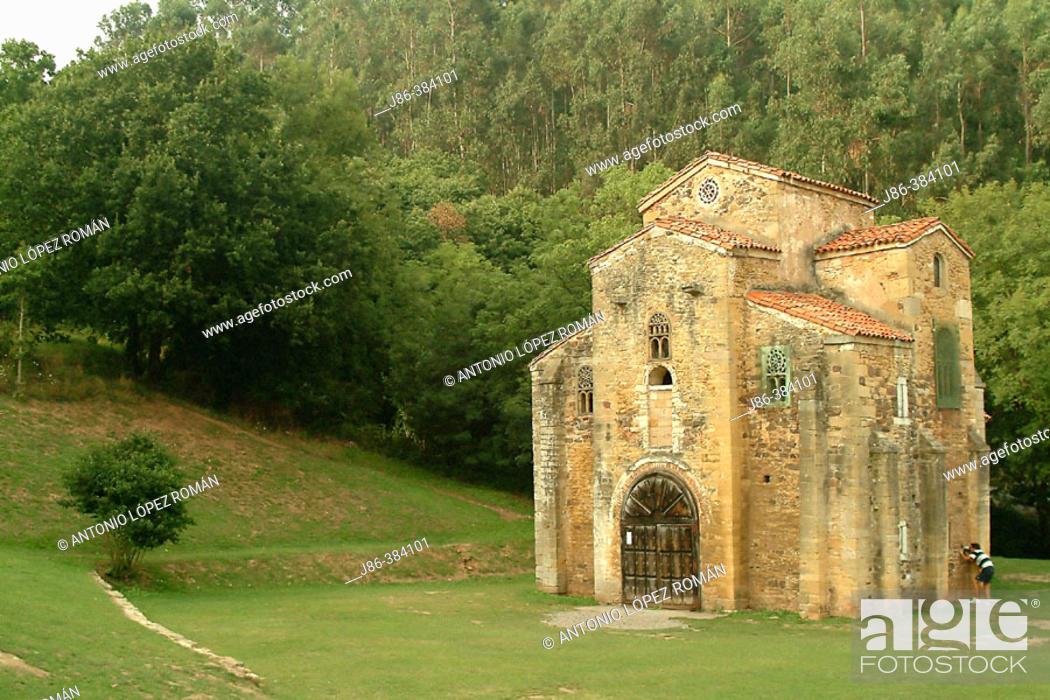 Stock Photo: San Miguel de Lillo. Asturias. Spain.