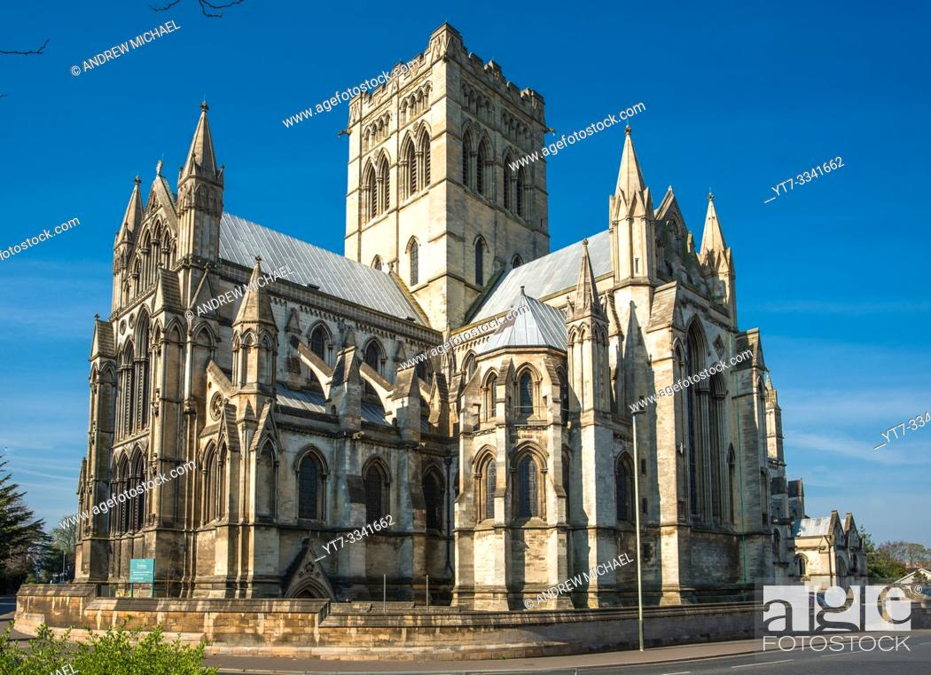 Stock Photo: Roman Catholic Cathedral of St John the Baptist in Norwich city centre, Norfolk, East Anglia, England, UK.