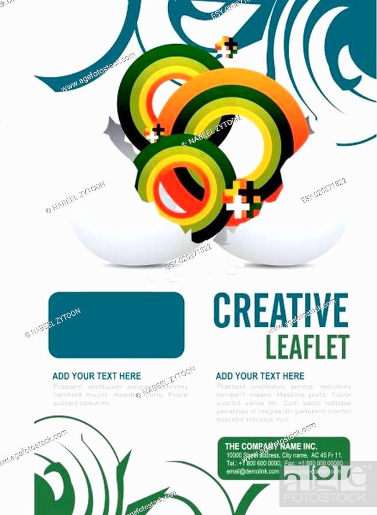 Stock Vector: Leaflet design.